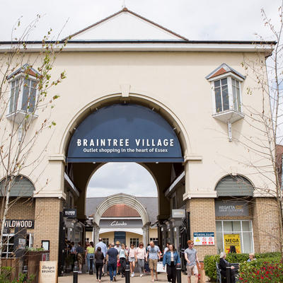 Braintree Village entrance